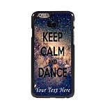 Personalized Phone Case - Keep Calm and Dance Design Metal Case for iPhone 6 Plus