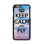 Personalized Phone Case - Keep Calm and Fly Design Metal Case for iPhone 6 Plus