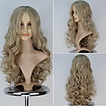 New Movie Princess Cinderella Long Curly Ash Blonde Color Moive Cosplay Wig