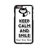 Personalized Phone Case - Keep Calm and Smile Design Metal Case for iPhone 6 Plus