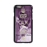 Personalized Phone Case - Keep Calm and Hug Me Design Metal Case for iPhone 6 Plus