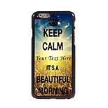 Personalized Phone Case - Beautiful Morning Design Metal Case for iPhone 6 Plus
