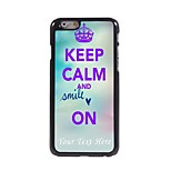 Personalized Phone Case - Keep Calm and Smile On Design Metal Case for iPhone 6 Plus