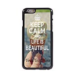 Personalized Phone Case - Keep Calm Design Metal Case for iPhone 6 Plus