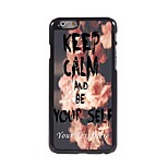 Personalized Phone Case - KEEP CALM AND BE YOURSELF Design Metal Case for iPhone 6 Plus