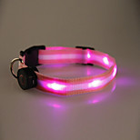 Cool and Highlight LED Flash Collar for Dogs Three Colors(Assorted Size,Assorted Color)