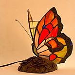 LED 2W petite lampe de nuit millésime tiffany créative papillon plug-in table (couleur aléatoire)