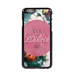 Personalized Phone Case - A Beautiful Day Design Metal Case for iPhone 6 Plus