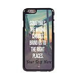 Personalized Phone Case - The Wrong Choice Design Metal Case for iPhone 6 Plus