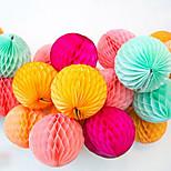 Honeycomb Shape Paper Flower Ball,5pcs/bag