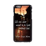 Personalized Phone Case - Live without God Design Metal Case for iPhone 6 Plus
