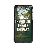 Personalized Phone Case - Inhale and Exhale Design Metal Case for iPhone 6 Plus