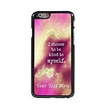 Personalized Phone Case - Kind to myself Design Metal Case for iPhone 6 Plus