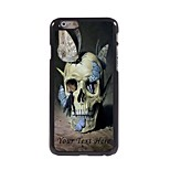Personalized Phone Case - Skull with Butterfly Design Metal Case for iPhone 6 Plus