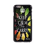 Personalized Phone Case - KEEP CALM AND CARRY ON Design Metal Case for iPhone 6 Plus