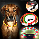 USB Charge Dog Training Collar LED Outdoor Luminous Collar for Dogs Four Colors(Assorted Size,Assorted Color)