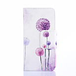 Fashion Design COCO FUN® Purple Dandelion Pattern Wallet Slot Full Body PU Leather Case for LG G3 MINI