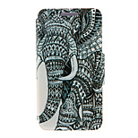 Kinston® Right Side Of Elephant Pattern Full Body PU Cover with Stand for HTC One M7/M8/M9 and HTC Desire 816/826/Eye