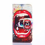 Fashion Design COCO FUN® Crying Eyes Pattern Wallet Slot Full Body PU Leather Case for LG G3 MINI