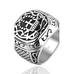 Male Rings Cool Men Party Jewelry Fashion Titanium 316L Stainless Steel Skull Skeleton Cross Ring