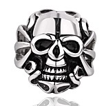 Fashion Jewelry  Design Wholesale Big Skull Styles 316L Stainless Steel Vintage Punk Finger Ring For Men Halloween