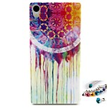 White Water Pattern TPU Back Cover Case and Dust Plug for Sony Xperia Z3