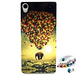 Elephant Pattern TPU Back Cover Case and Dust Plug for Sony Xperia Z3