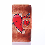 Fashion Design COCO FUN® Broken Hearts Pattern Wallet Slot Full Body PU Leather Case for LG G3 MINI