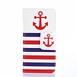 design de mode Coco Fun® fente marine motif d'ancrage rouge portefeuille corps entier pour les mini pu i9190 de samsung galaxy étui