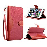 Lace pattern contrast color card package red PU + lace + PC Flip shell Case For iPhone6/6s