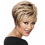 European And American New Light Golden Color And Black Mixed Short Wig