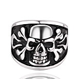 316L Stainless Steel Jewelry Skeleton Ring anel Men's Cool Design Punk Fashion Accessories Skull Rings