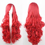 The new European and American high-temperature  Red Long Curly Hair Wig80CM