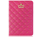 Crown Round Dots/Solid Color PU Leather Covers/Folio Cases for iPad mini 4 (Assorted Colors)