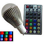 1pcs SchöneColors® 9W GU10/B22 Dimmable/32Keys Remote-Controlled/Decorative Globe Bulbs Lamps AC85-265V