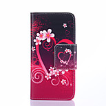 Fashion Design COCO FUN® Red Love Heart Pattern Wallet Slot Full Body PU Leather Case for Samsung Galaxy Ace 4 G357FZ