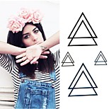 Personality Originality Creative Triangle Tattoo Stickers Temporary Tattoos(1 pc)