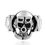 New Fashion Ring 316L Stainless Steel Rings For Men Big Skull Ring Punk Style Vintage Men Jewelry punk Skeleton Ring