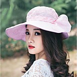 Women Vintage/Cute/Party/Casual Summer Lace Floppy Hat