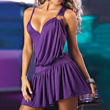 Cosplay Costumes Uniforms Festival/Holiday Halloween Costumes Purple / Black Dress Spandex
