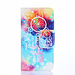 Fashion Design COCO FUN® Colorful Wind-Bell Pattern Wallet Slot Full Body PU Leather Case for LG G3 MINI