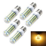 5pcs E27/E14 12W 1200LM 69-5730 SMD Warm/Cool White Light LED Corn Bulb (AC 220~240V)