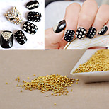 1000PCS Personality Punk Manicure Beads Gold Nail Art  Powder Beads