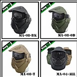 MA-08  Airsoft Wargame Gear Mmesh Tactical Full Face Mask With Goggles Include Protect Neck