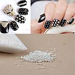 1000PCS Personality Punk Manicure Beads Silver Nail Art  Powder Beads