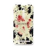 Rose Flower Pattern TPU Material Phone Case And Screen Protector for Asus Zenfone 2