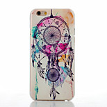 Campanula Pattern of Transparent Frosted PC Material Phone Case for iPhone 6