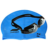 Anti-fog JIEJIA myopia goggles OPT1003 (250) of black +  silica gel caps blue combination