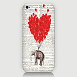 el teléfono patrón globo elefante detrás encajona la cubierta para iphone5c