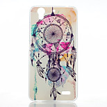Campanula Pattern Transparent Frosted PC Material Phone Case for Huawei G630